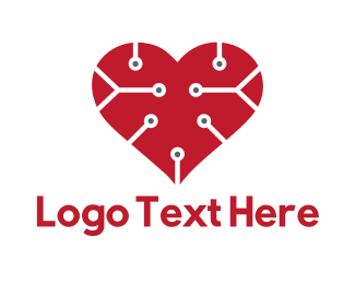 Cardiologist - Tech Love logo design