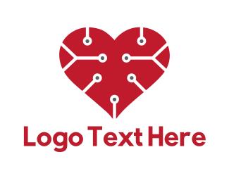 Wearable - Tech Love logo design