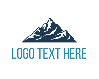 Skiing - Big Blue Mountain logo design