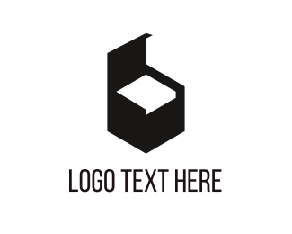 Chair - Black Furniture logo design