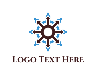 Navy - Ship Wheel logo design