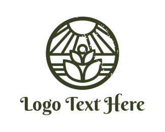 Yard - Organic Stamp logo design