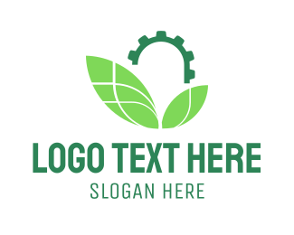 Screw - Industrial Leaves logo design