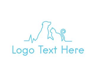 Pets Animals Pet Clinic logo design