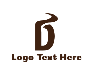 Path - Brown Letter D logo design