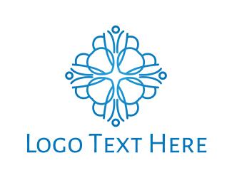 Chakra - Blue Dahlia logo design