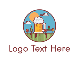 Beer Garden logo design