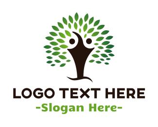 Human Tree - Twin Tree logo design