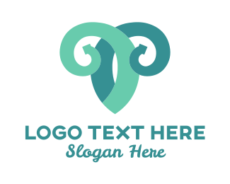Sheep - Vine Goat logo design