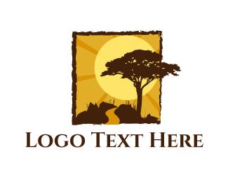 Africa - African Landscape logo design
