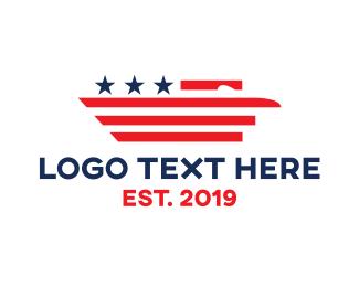 Flag - USA Eagle Flag  logo design