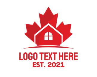 Maple Leaf - Canadian Real Estate logo design