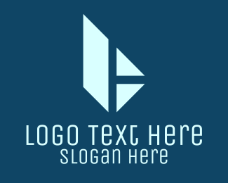 Negative Space - Minimalist Blue Letter H logo design