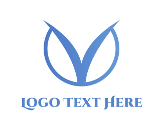Fin - clean V logo logo design