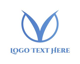 clean V logo Logo