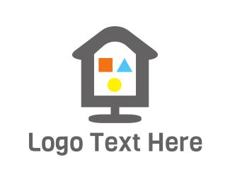 Kindergarten - Playground House logo design