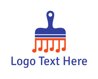 Musical - Music Brush logo design