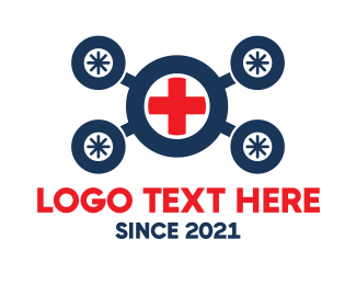 Rescue - Medical Drone logo design