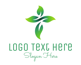 Herbal - Cross Flower logo design