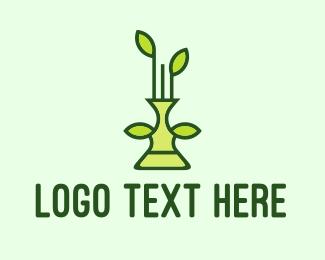 Biological - Plant Vase logo design