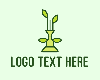 Evergreen - Plant Vase logo design