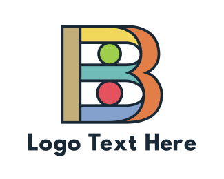 Barcelona - Colorful Bold B logo design