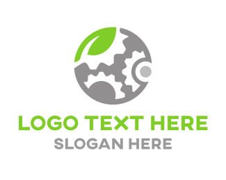 Rotation - Eco Engine logo design