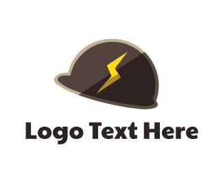 Safe - Thunder Helmet logo design