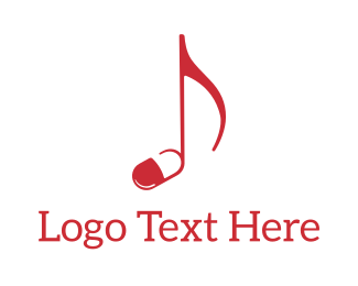 Band - Music Pill logo design