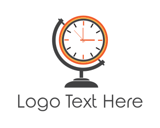World - Time World  logo design