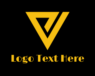 Black And Gold - Retro P & V logo design