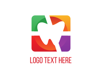 Orthodontic - Colorful Tooth logo design