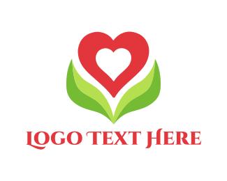 Romantic - Heart Blossom logo design