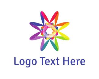 Funky - Psychedelic Rainbow logo design