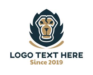 Strength - Powerful Lion logo design