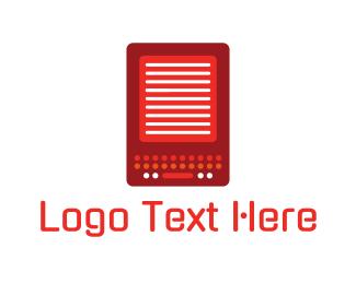 Read - Red Gadget logo design