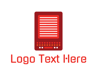 Pc - Red Gadget logo design