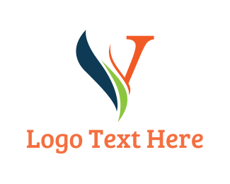 Initial - Leaf Letter V logo design