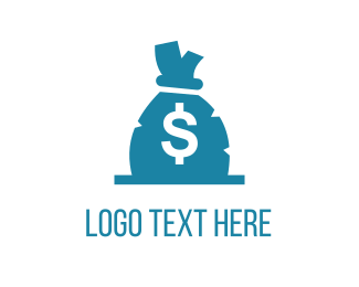Dollar - Money Bag logo design