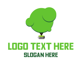 Rock - Tree Rock logo design