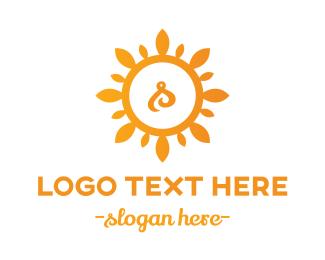 Sun - Sun Letter S logo design