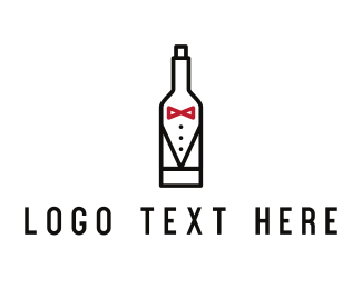 Groom - Drink Suit logo design