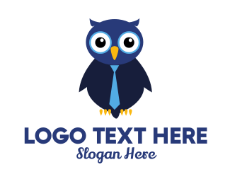 Business - Cute Business Owl logo design