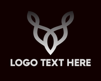 Byson - Interlaced Horn Outline  logo design