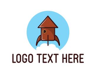 Launch - Home Rocket logo design