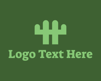 Fence - Cactus Fence logo design