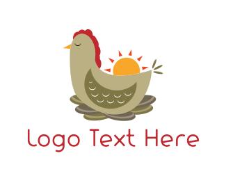 Morning - Chicken Nest  logo design