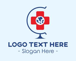 Organization - Global Hospital logo design