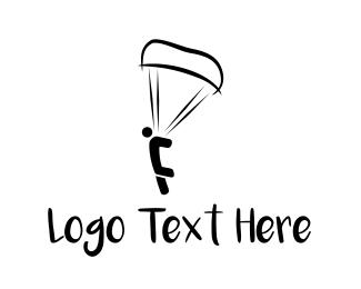 Paragliding - Skydiver Jump logo design