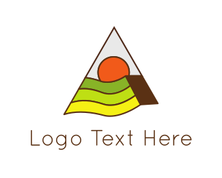 Agribusiness - Triangle & Landscape logo design
